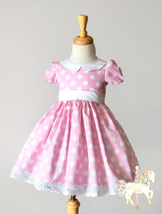 Pink Minnie Mouse Fancy Party Dress