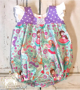 Pretty Princess Romper - RTS 6-12 Month