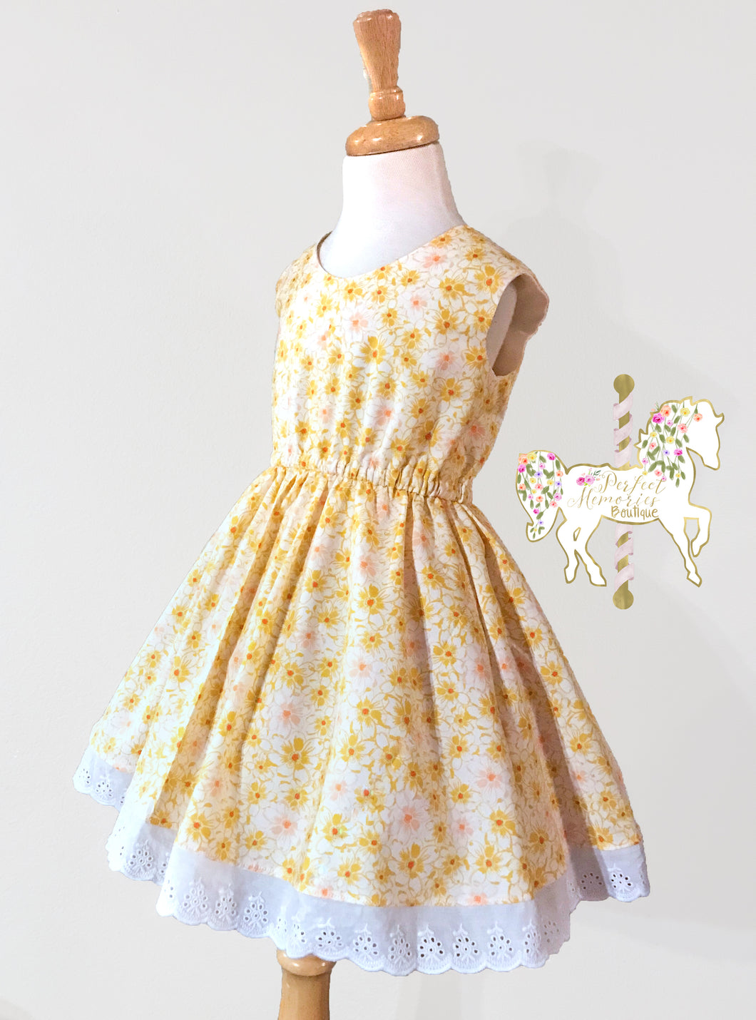 Sunshine Daisy Dress - 6 - RTS