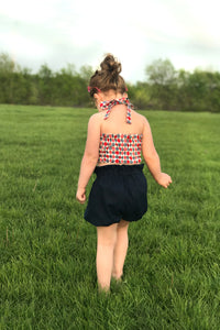 American Girl Crop Top & High Waist Shorties