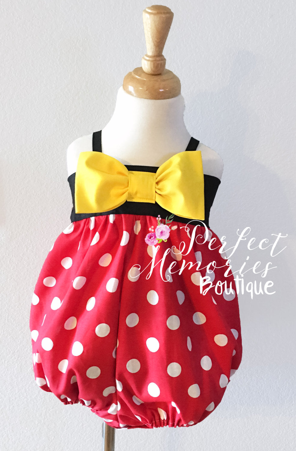 Classic Minnie Mouse Bubble Romper