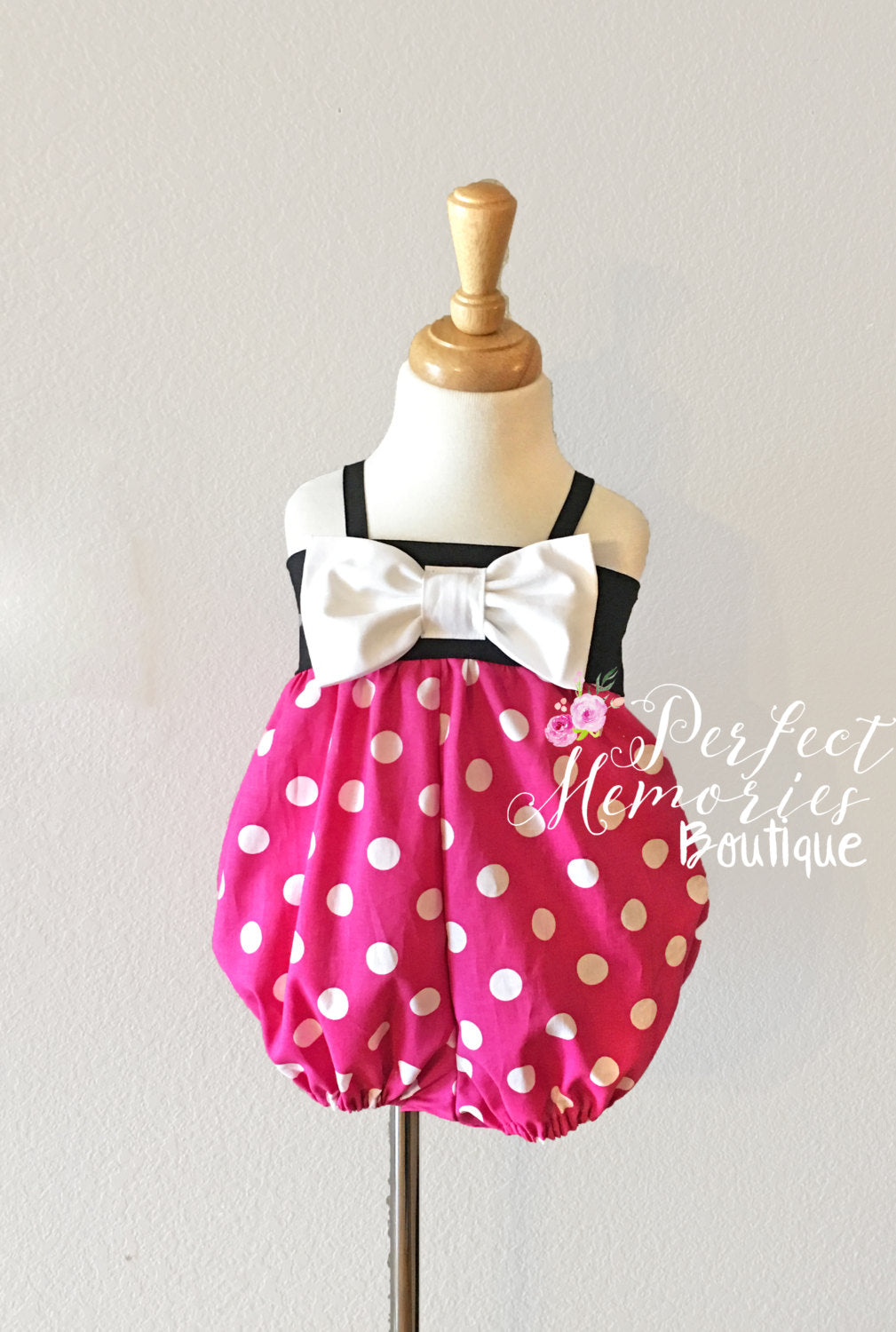Pink Minnie Mouse Romper Perfect Memories Boutique