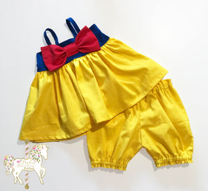 Snow White Top & Short Set