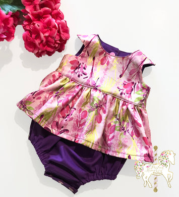 Spring Blossom Peplum Top or Romper