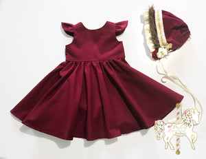 Classic Crimson Party Dress