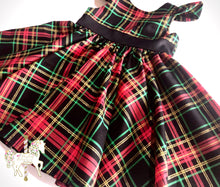 Classic Christmas Plaid Party Dress