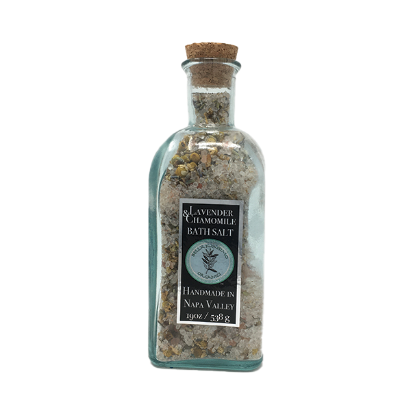 Natural Bath Salts with Essential Oils & Herbs
