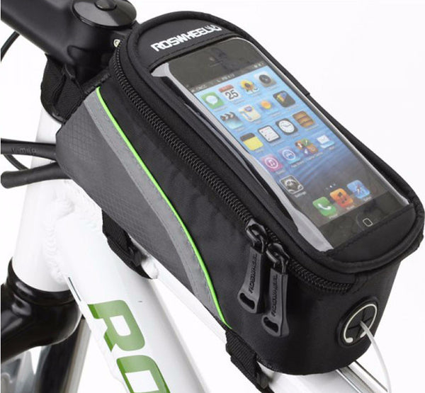 Keep Phone Secure - Handy Bicycle Front Bag Accessory