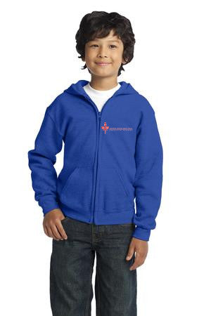 SPPCS Youth Heavy Blend Full-Zip Hooded Sweatshirt