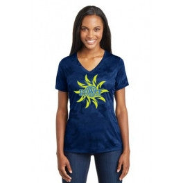 PoWer Beach Ladies CamoHex V-Neck Tee