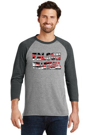2017 Husty Volleyball Mens Perfect 3/4-Sleeve Raglan