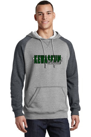 2017 Kewaskum Volleyball Lightweight Fleece Raglan Hoodie