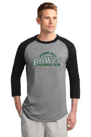 PoWer Green Bay Colorblock Raglan Jersey - Player's Edge - Wisconsin - 2