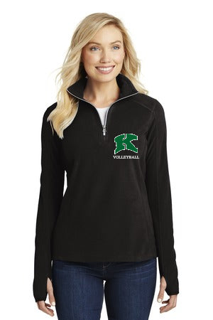 2017 Kewaskum Volleyball Ladies Microfleece 1/2-Zip Pullover
