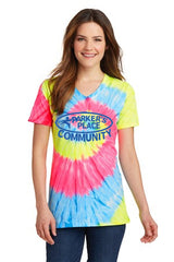 Parker's Place Ladies Tie-Dye V-Neck Tee