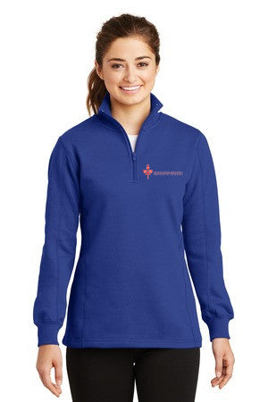 SPPCS Ladies 1/4-Zip Sweatshirt