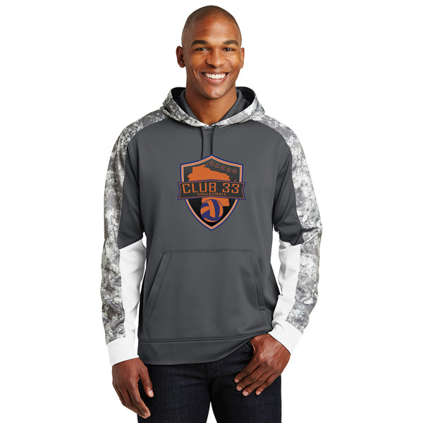 Club 33 Mineral Freeze Fleece Colorblock Hooded Pullover