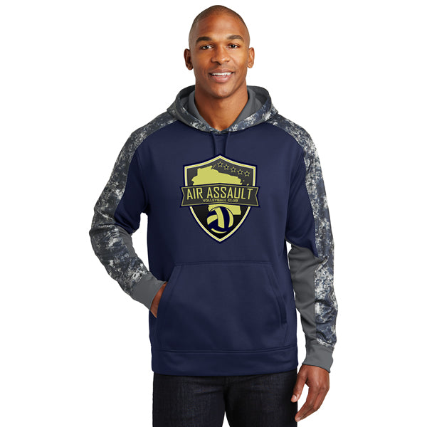 Air Assault Mineral Freeze Fleece Colorblock Hooded Pullover