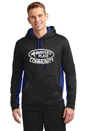 Parker's Place Sport-Wick Fleece Colorblock Hooded Pullover