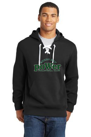 Power Green Bay Lace Up Hoodie