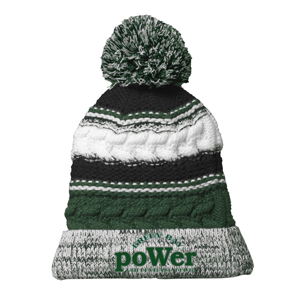 Power Green Bay Pom Pom Team Beanie