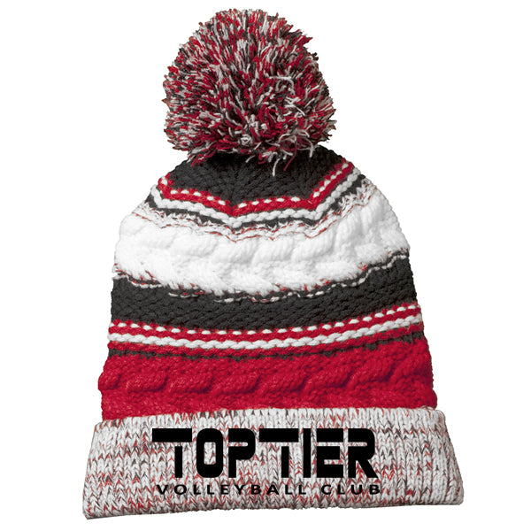 Top Tier Pom Pom Team Beanie