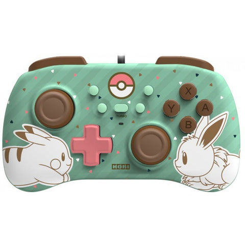 Hori Mini Wired Controller for Nintendo Switch Pikachu and Eevee - GameShop Asia