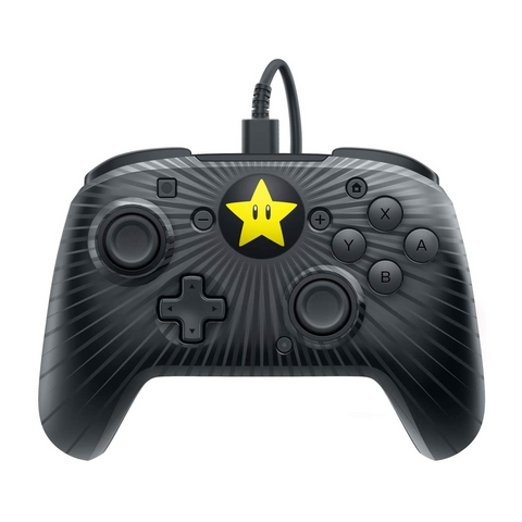 PDP Faceoff  Wired Pro Controller Super Mario Star Edition for Nintendo Switch
