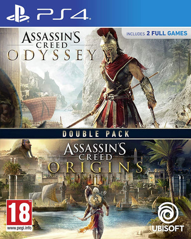 Assassin's Creed Origins + Odyssey Double Pack (PS4) - GameShop Asia
