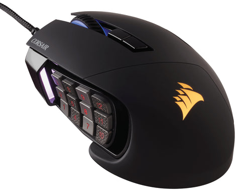Corsair Scimitar Pro RGB Optical MOBA/MMO Gaming Mouse Black - GameShop Asia