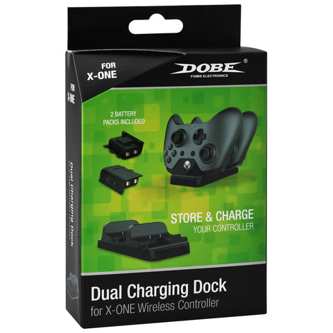 Dobe Dual Charging Dock for Xbox One Black - GameShop Asia