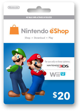 Nintendo eShop Prepaid Card USD20 - Digital Download