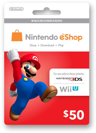 Nintendo eShop Prepaid Card USD50 - Digital Download