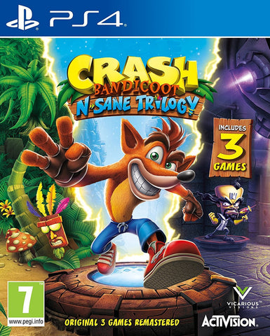 Crash Bandicoot N Sane Trilogy (PS4) - GameShop Asia