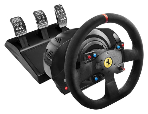 Thrustmaster T300 Ferrari Alcantara Edition Racing Wheel for PS4, PS3 and PC - GameShop Asia