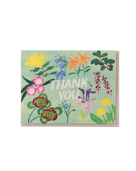 Mint Floral Thank You Card Set of 8