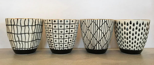Black & White Ceramic Cup