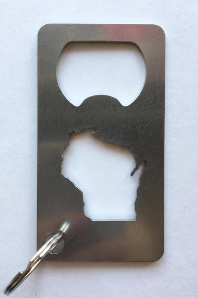 Wisconsin Bottle Opener with Key Ring