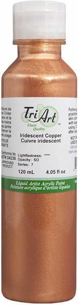 Tri Art Liquid Acrylic Iridescent Copper 120 mL