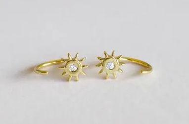Sun Hoops Earrings