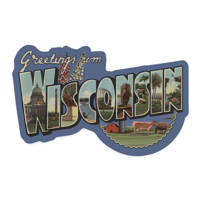 Greetings From Wisconsin Sticker