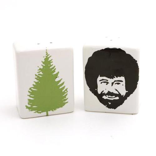 Bob Ross Salt and Pepper Shakers