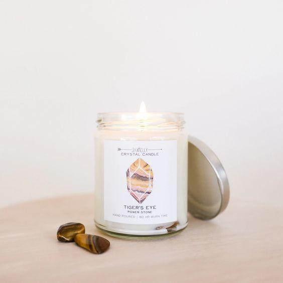 Tiger's Eye Crystal Candle-Power