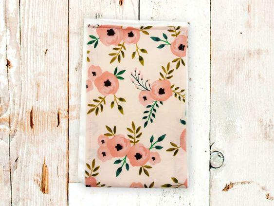 Blush Floral Burp Cloth