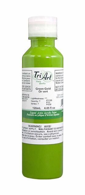 Tri Art Liquid Acrylic Green Gold 120mL