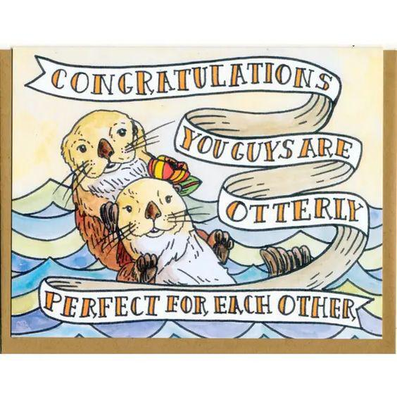 You Guys Are Otterly Perfect for Each Other Card