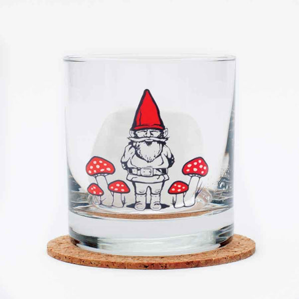 Gnome Rocks Glass