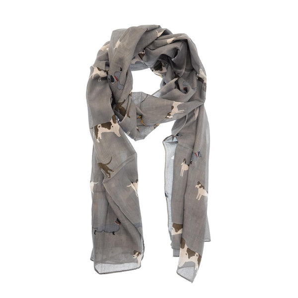 Cotton Dog Print Scarf