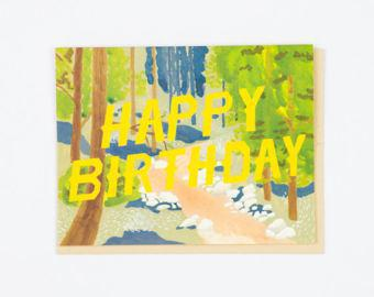 Happy Birthday Forest Card