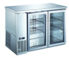 R290 UBB-24-48GSS 2 door glass back bar cooler